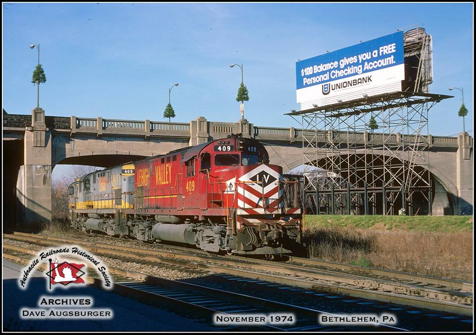 Lehigh Valley ALCO C420 409 at Bethlehem, PA - ARHS Digital Archive