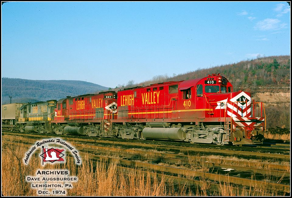 Lehigh Valley ALCO C420 410 at Lehighton, PA - ARHS Digital Archive