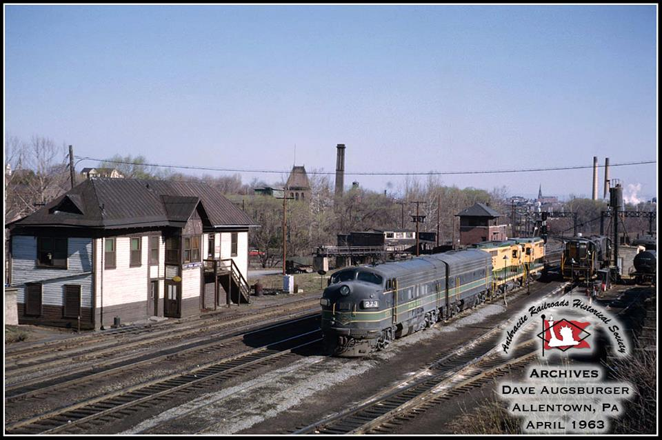 Reading EMD F7A 273 at Allentown, PA - ARHS Digital Archive