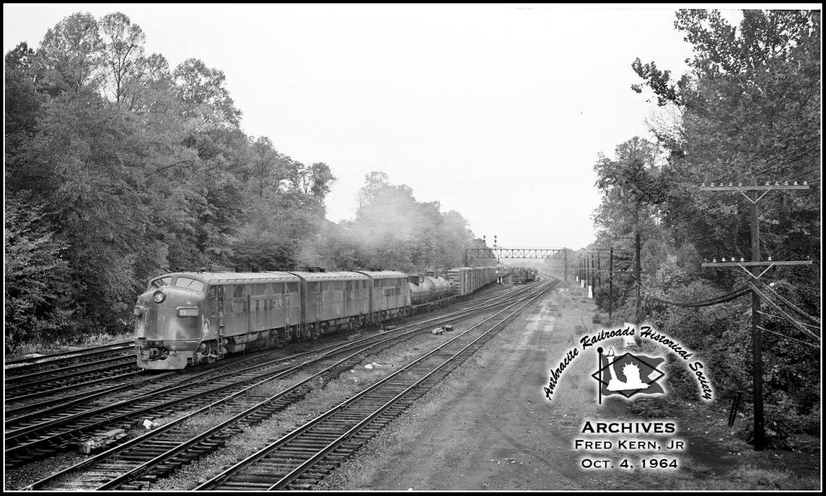 Central Railroad of New Jersey EMD F3A 52 at Bridgeport, PA - ARHS Digital Archive