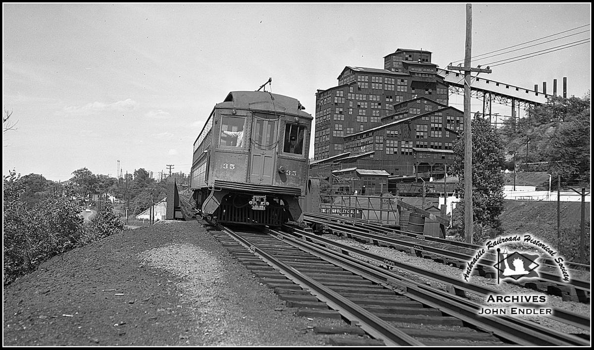 Lackawanna and Wyoming Valley Passenger 35 at Wilkes-Barre, PA - ARHS Digital Archive