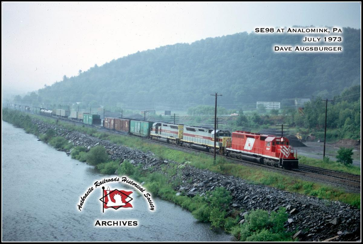 Central Railroad of New Jersey EMD SD40 3067 at Analomink, PA - ARHS Digital Archive