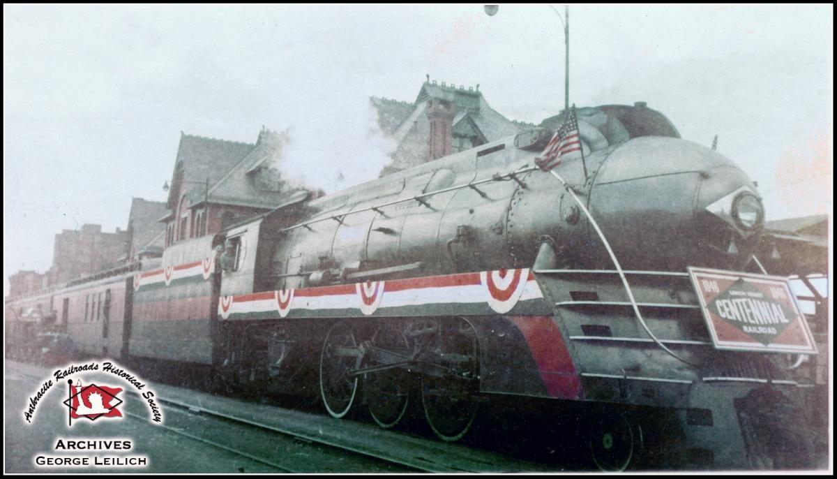 Lehigh Valley BLW 4-6-2 2102 at Wilkes-Barre, PA - ARHS Digital Archive