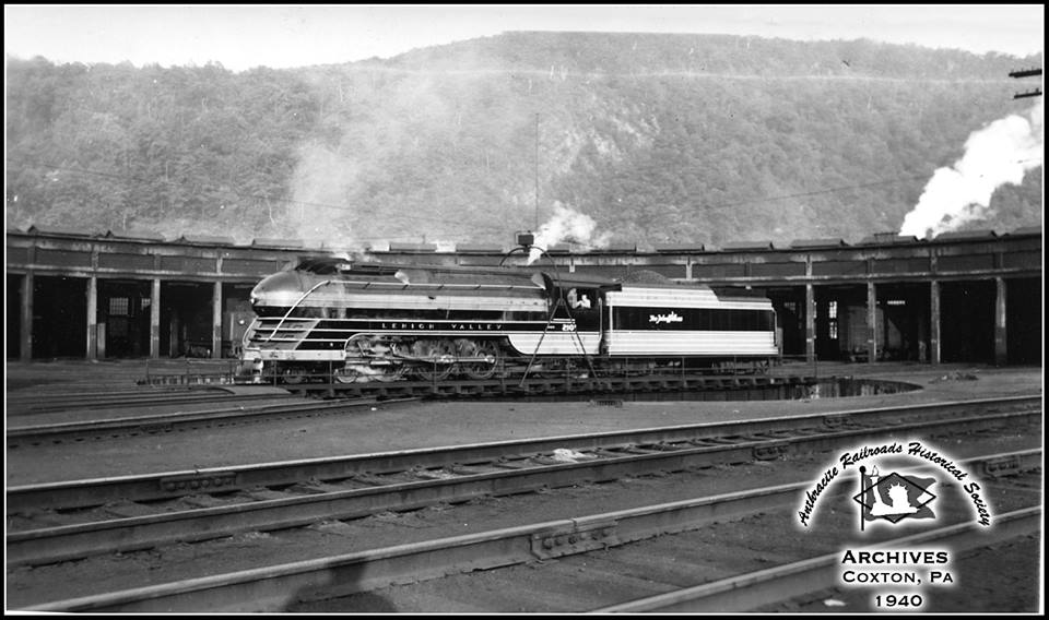 Lehigh Valley BLW 4-6-2 2101 at Coxton, PA - ARHS Digital Archive