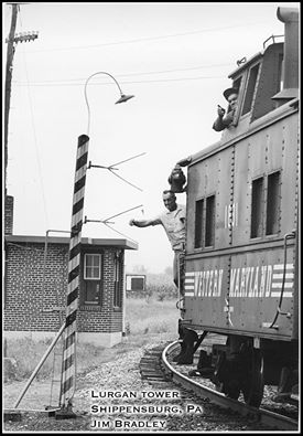 Western Maryland Caboose  at Shippensburg, PA - ARHS Digital Archive