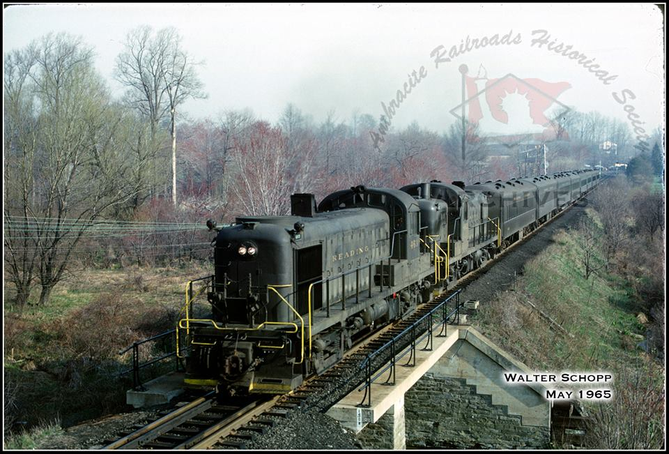 Reading ALCO RS1b 463 at Huntingdon Valley, PA - ARHS Digital Archive