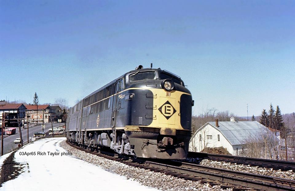 Erie Lackawanna EMD F3A  at Moscow, PA - ARHS Digital Archive