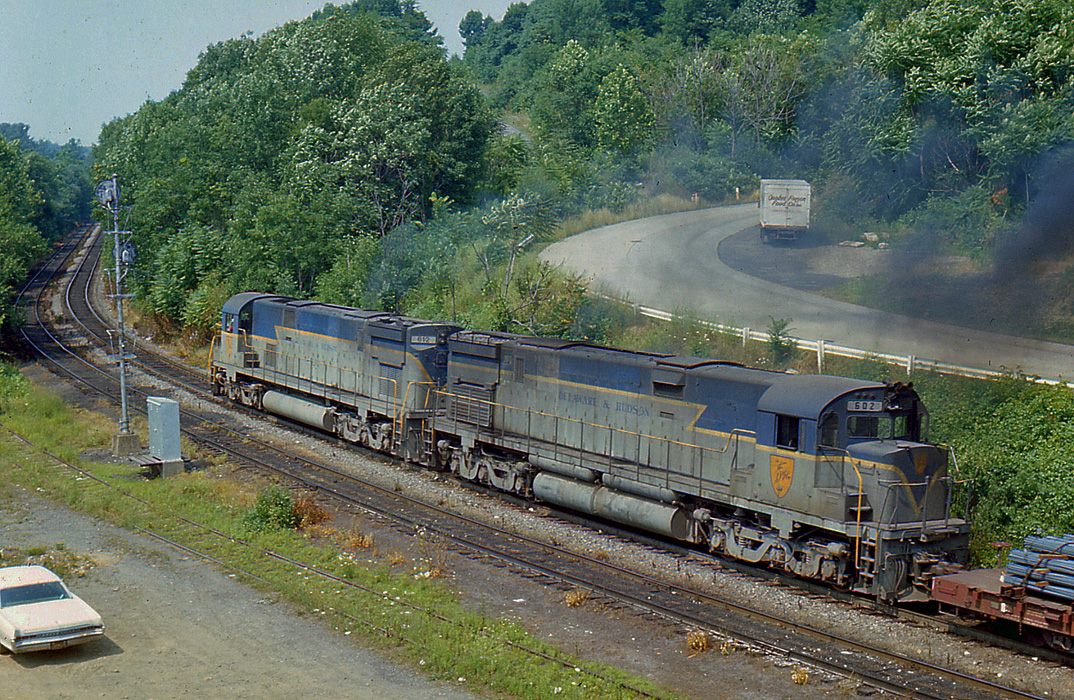 Delaware and Hudson ALCO C628 602 at Allentown, PA - ARHS Digital Archive