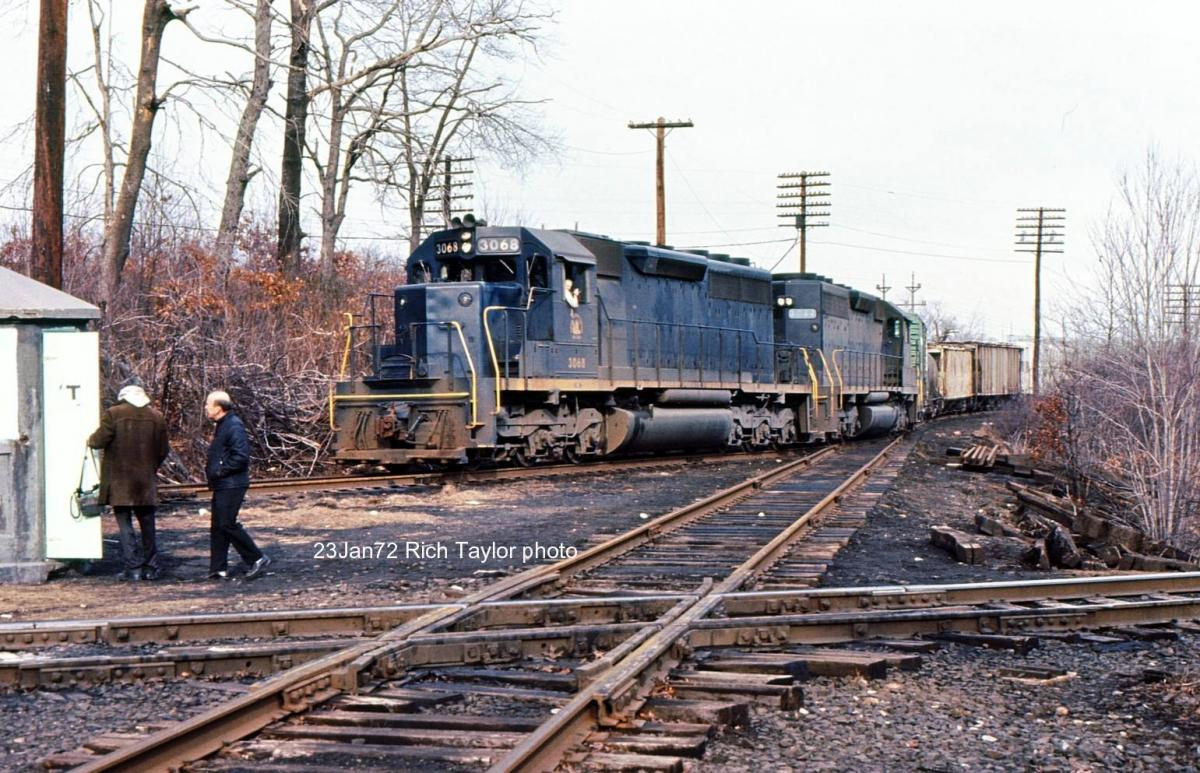 Central Railroad of New Jersey EMD SD40 3068 at Wharton, NJ - ARHS Digital Archive
