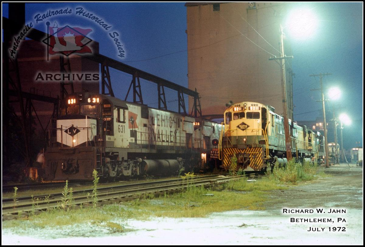 Lehigh Valley ALCO C628 631 at Bethlehem, PA - ARHS Digital Archive
