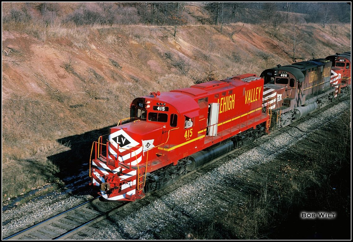 Lehigh Valley ALCO C420 415 at Unknown, US - ARHS Digital Archive