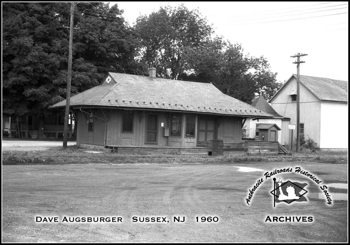 Lehigh and New England Station  at Sussex, NJ - ARHS Digital Archive