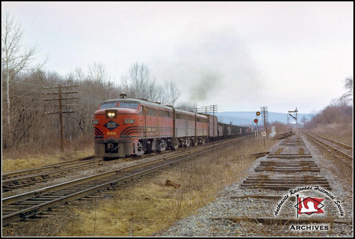 Lehigh Valley ALCO FA2 586 at Allentown, PA - ARHS Digital Archive
