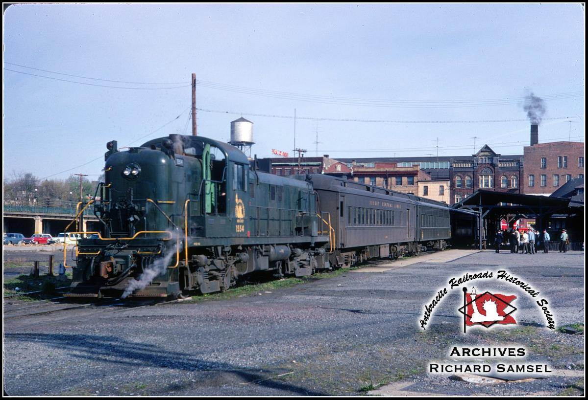 Central Railroad of New Jersey ALCO RS3 1554 at Allentown, PA - ARHS Digital Archive