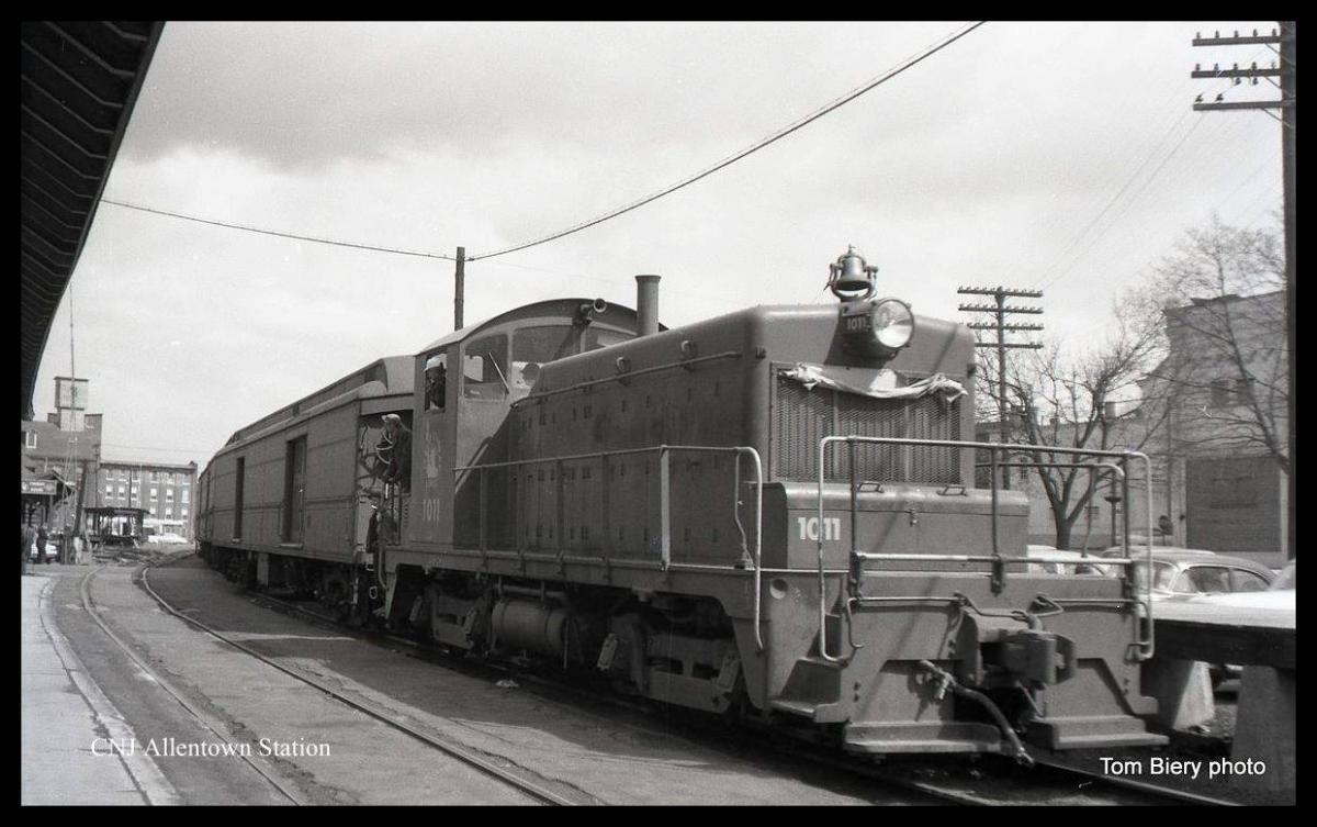 Central Railroad of New Jersey EMD SW1 1011 at Allentown, PA - ARHS Digital Archive