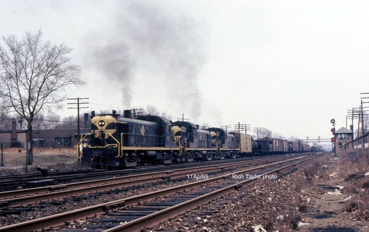 Erie Lackawanna ALCO RS3 917 at Rutherford, NJ - ARHS Digital Archive