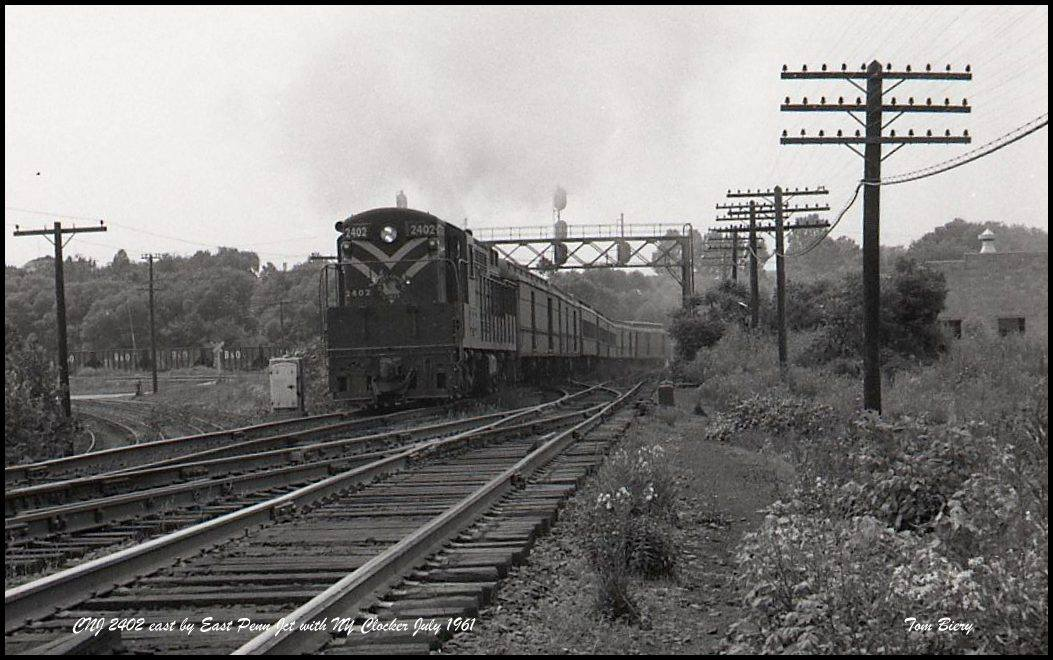 Central Railroad of New Jersey FM H24-66 2402 at Allentown, PA - ARHS Digital Archive