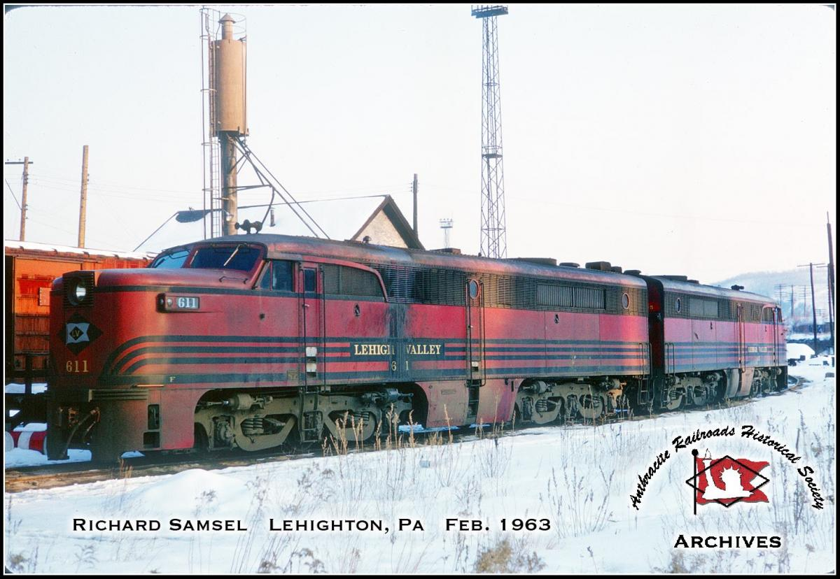 Lehigh Valley ALCO PA1 611 at Lehighton, PA - ARHS Digital Archive