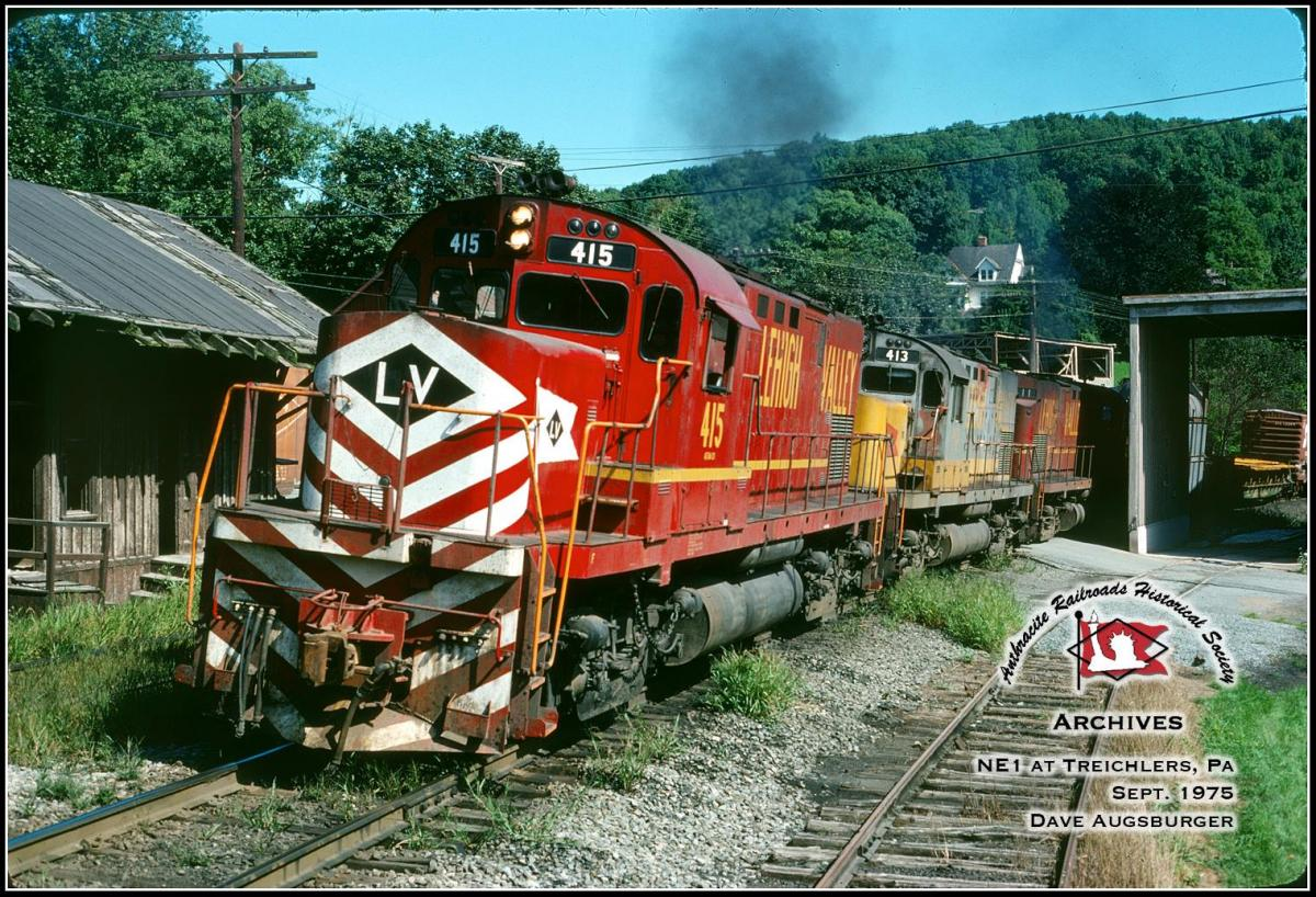 Lehigh Valley ALCO C420 415 at Treichlers, PA - ARHS Digital Archive