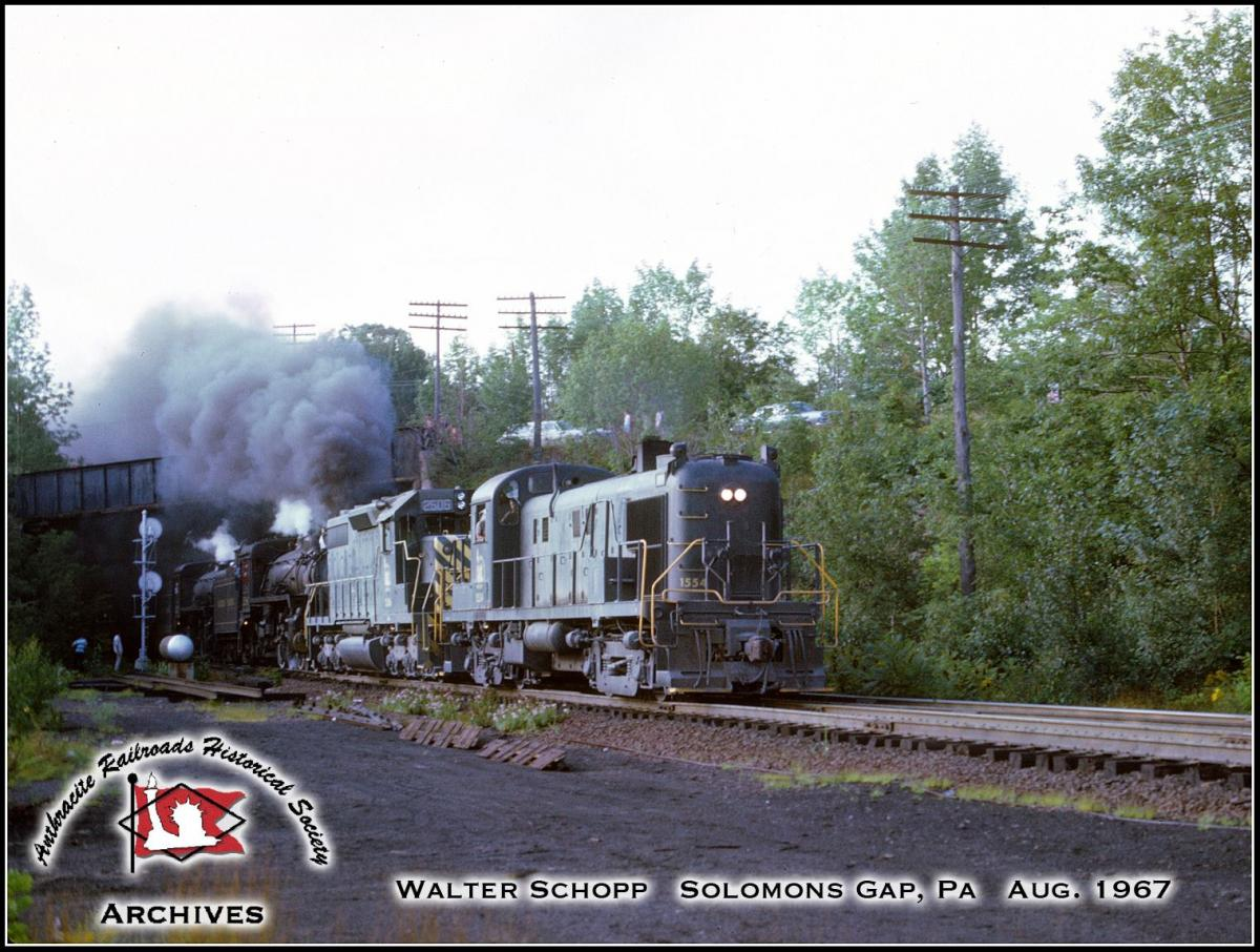 Central Railroad of New Jersey ALCO RS3 1554 at Mountain Top, PA - ARHS Digital Archive