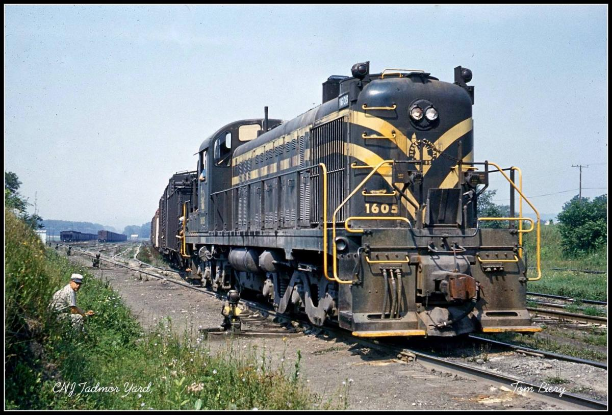 Central Railroad of New Jersey ALCO RSD-4 1605 at Tadmor, PA - ARHS Digital Archive