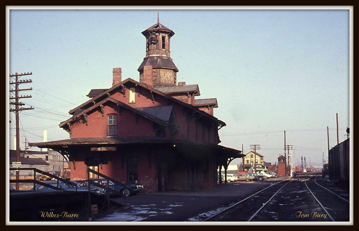 Central Railroad of New Jersey Station  at Wilkes-Barre, PA - ARHS Digital Archive