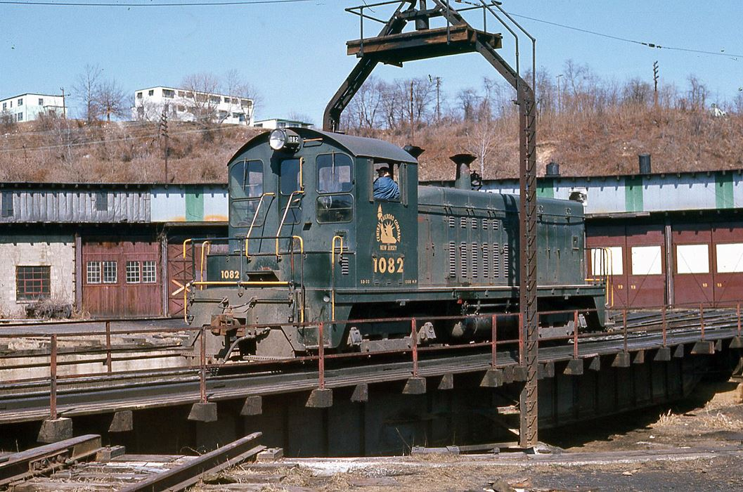 Central Railroad of New Jersey EMD SW7 1082 at Bethlehem, PA - ARHS Digital Archive