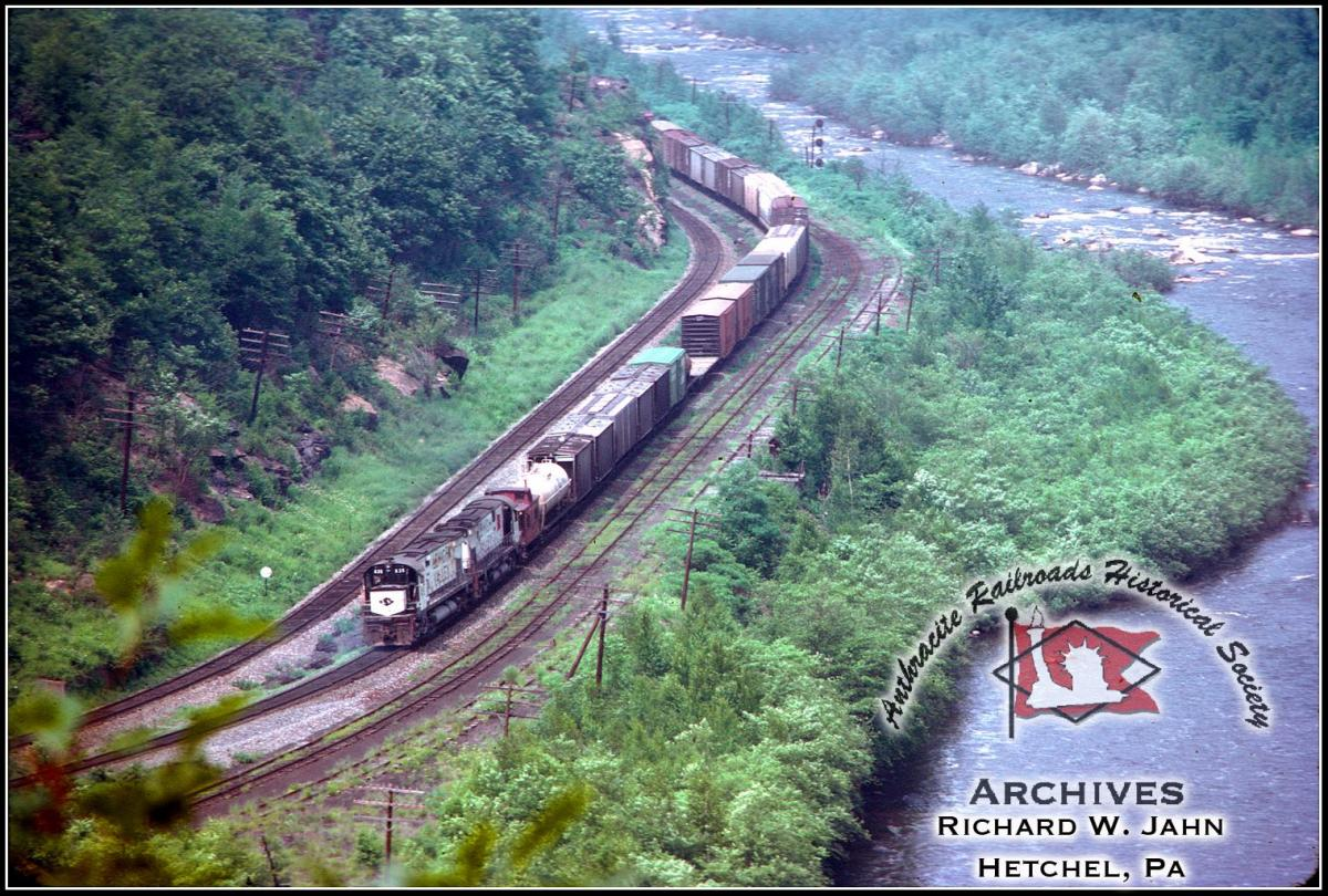 Lehigh Valley ALCO C628  at Jim Thorpe, PA - ARHS Digital Archive