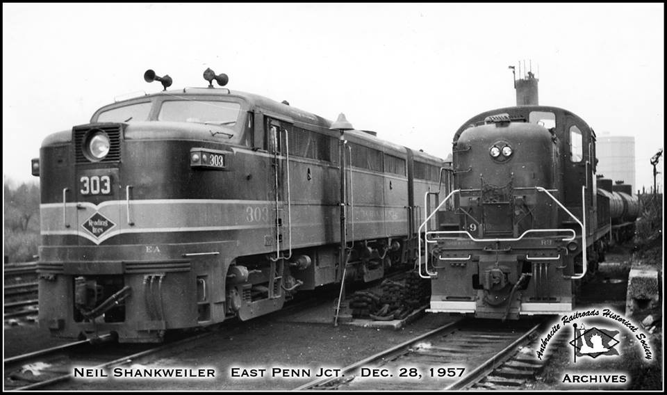 Reading ALCO FA1 303 at Allentown, PA - ARHS Digital Archive