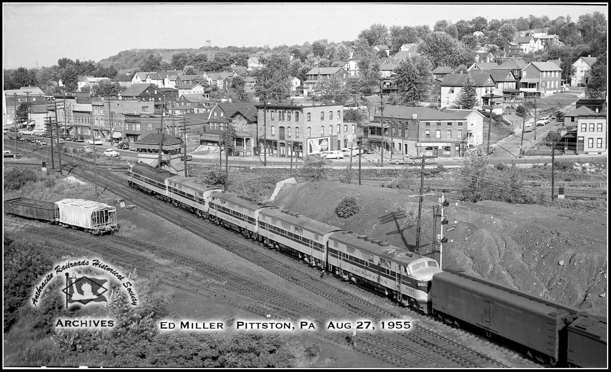 Delaware, Lackawanna and Western EMD F3A 802 at Pittston, PA - ARHS Digital Archive