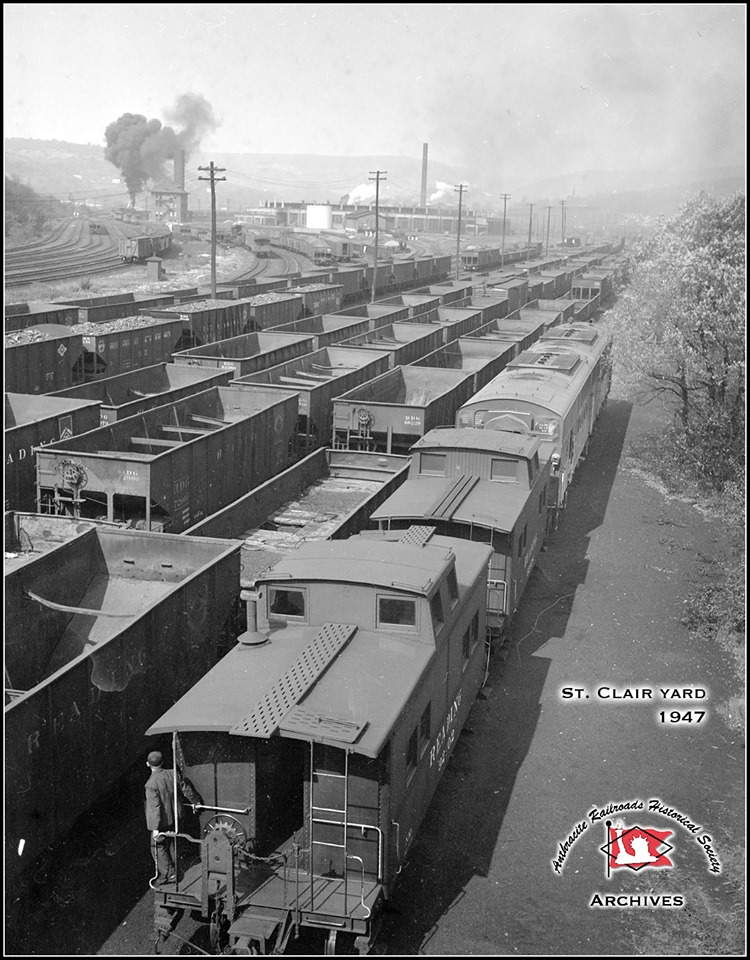 Reading Caboose  at St. Clair, PA - ARHS Digital Archive