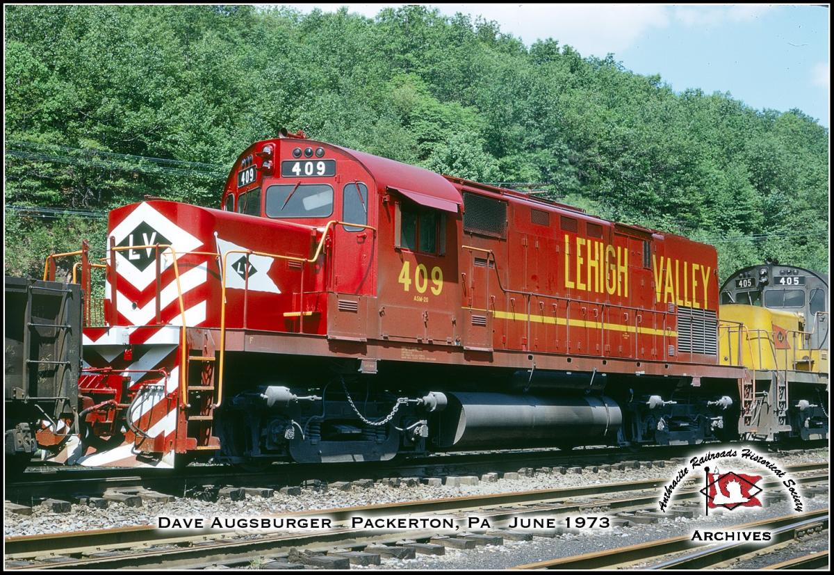 Lehigh Valley ALCO C420 409 at Packerton, PA - ARHS Digital Archive
