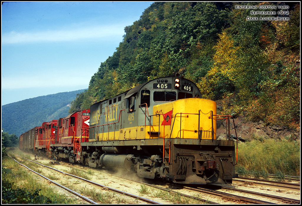 Lehigh Valley ALCO C420 405 at Coxton, PA - ARHS Digital Archive