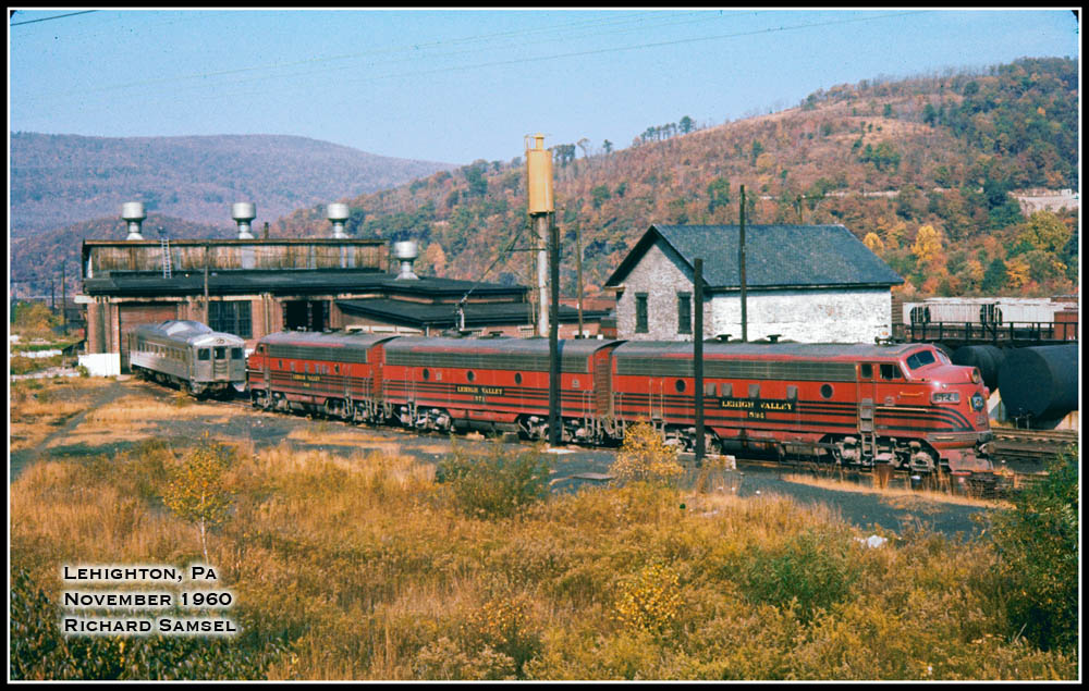 Lehigh Valley EMD F3A 524 at Lehighton, PA - ARHS Digital Archive