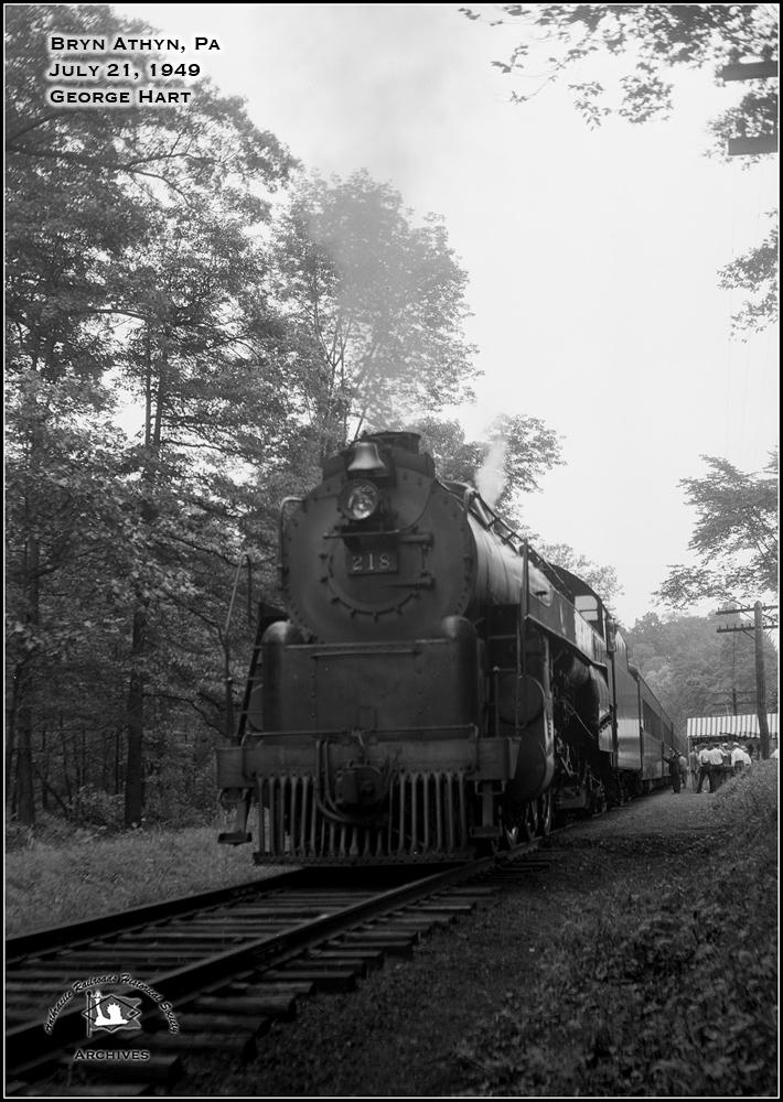 Reading RDG 4-6-2 G-3 218 at Bryn Athyn, PA - ARHS Digital Archive