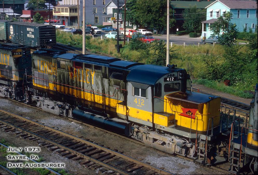 Lehigh Valley ALCO C420 412 at Sayre, PA - ARHS Digital Archive